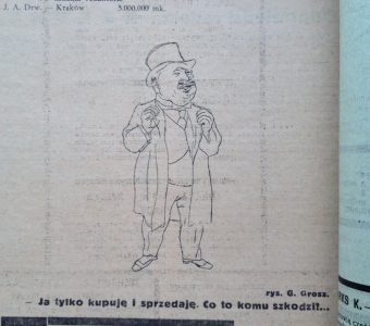 George Grosz dla Nowej Kultury, 1924