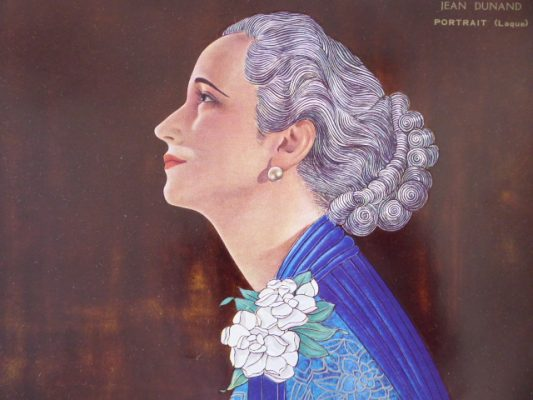DUNAND JEAN Portret kobiety [druk artystyczny]