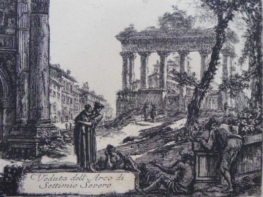 PIRANESI GIOVANNI BATTISTA Veduta del Arco di Settimio Severo, Rzym [akwaforta]