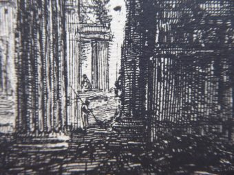 PIRANESI GIOVANNI BATTISTA - Veduta del Arco di Settimio Severo, Rzym [akwaforta]