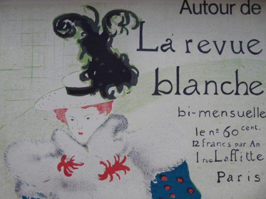 HENRI deTOULUSE-LAUTREC Autour de la Revue Blanche [plakat]