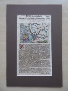 MUNSTER SEBASTIAN - Mapa Prus [Kosmografia 1592 r.]