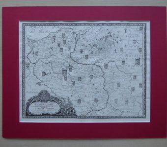 DAHLBERG - Mapa Polski [miedzioryt, 1696]