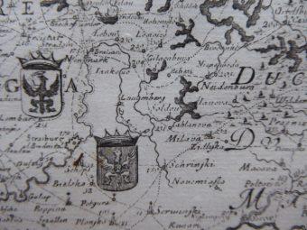 DAHLBERG ERIK - Mapa Polski [miedzioryt]