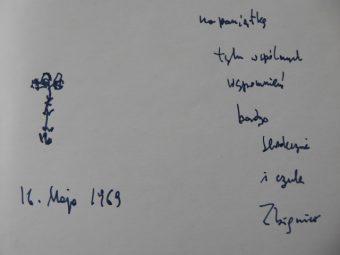 HERBERT ZBIGNIEW - Barbarzyńca w ogrodzie [z autografem i kwiatkiem]