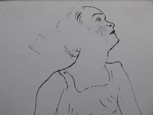 GROSZ GEORGE Akt [litografia, ok. 1950 r.]