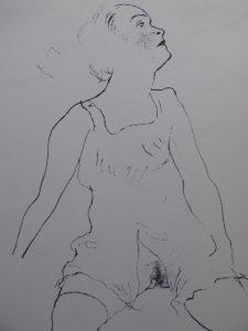 GROSZ GEORGE - Akt [litografia, ok. 1950 r.]