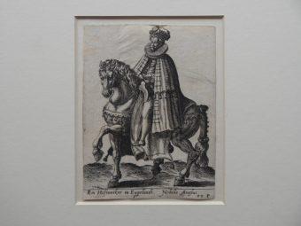 ABRAHAM de BRUYN - Szlachcic angielski – portret konny [miedzioryt]