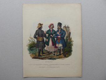 [Lewicki Jan Nepomucen]. Zienkowicz Leon - MAZURY [stroje polskie, litografia]