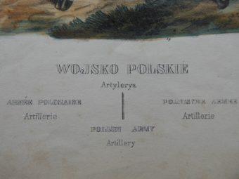 [Lewicki Jan Nepomucen]. Zienkowicz Leon - WOJSKO POLSKIE. ARTYLERYA [stroje polskie, litografia]