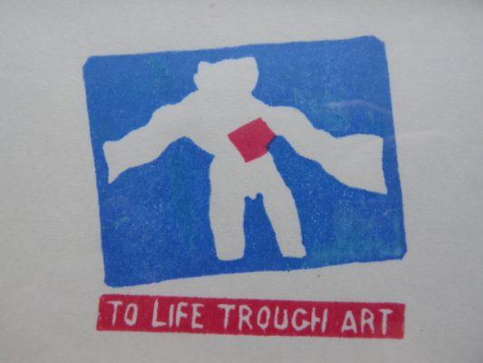 ROPIECKI WACŁAW To Life Trough Art [linoryt]