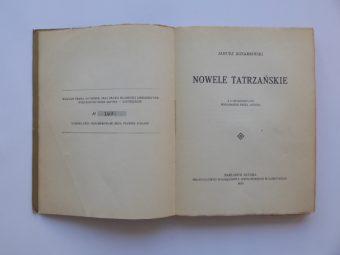 KOTARBIŃSKI JANUSZ - Nowele tatrzańskie
