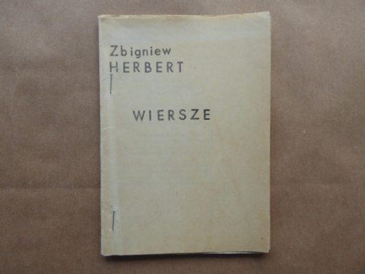 HERBERT ZBIGNIEW Wiersze