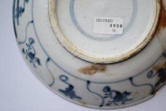 Talerzyk porcelanowy z wraku statku Tek Sing [Chiny, XIXw.]
