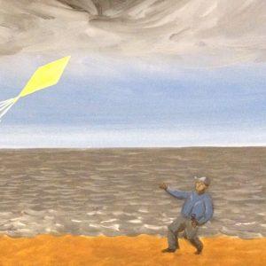 MODZELEWSKI JAROSŁAW - Żółty latawiec [tempera na płótnie]