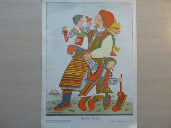 WERTEN MARJA - Nowe zabawki [litografia]