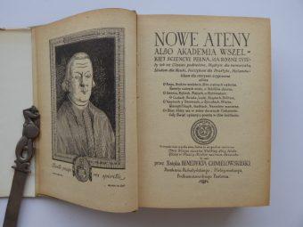 CHMIELOWSKI BENEDYKT - Nowe Ateny albo Akademia wszelkiey sciencyi pełna… [reprint]