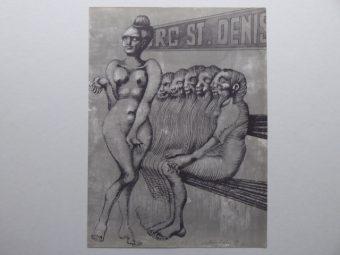 LEBENSTEIN JAN - Faubourg St. Denis [litografia]