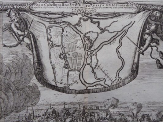 PUFENDORF SAMUEL, DAHLBERGH ERIK Brześć Litewski [miedzioryt, 1696]