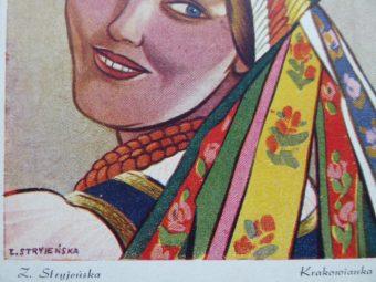 STRYJEŃSKA ZOFIA - Krakowianka [pocztówka]