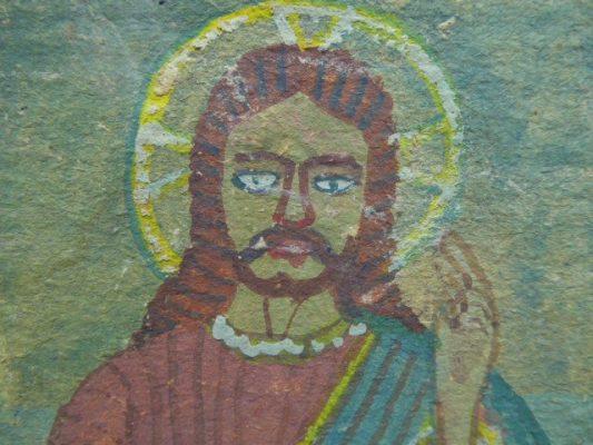 NIKIFOR KRYNICKI Jezus Chrystus [akwarela]
