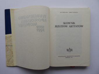 POPLATEK JAN, PASZENDA JERZY - Słownik jezuitów artystów