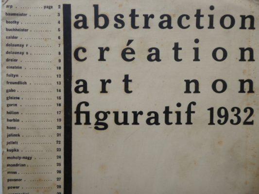 praca zbiorowa abstraction creation art non figuratif 1932