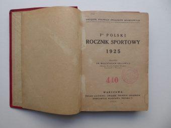 Pierwszy Polski Rocznik Sportowy 1925