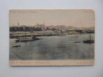Widok Warszawy na Wisłę [pocztówka]