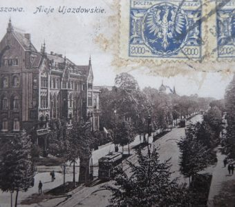 Warszawa. Aleje Ujazdowskie [pocztówka]
