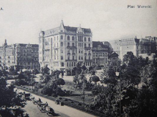 Warszawa. Plac Warecki [pocztówka]