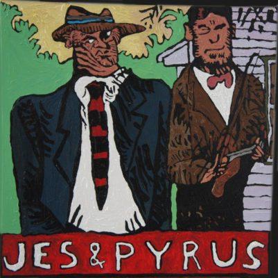 JAN URBAŃSKI Jes & Pyrus [akryl na płótnie]