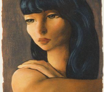 KISLING MOJŻESZ - Portret kobiety [litografia]