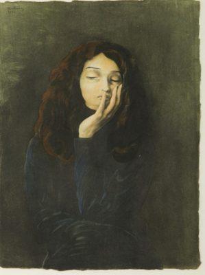 KISLING MOJŻESZ Portret kobiety [litografia]