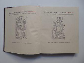 SHAKESPEARE WILLIAM - Sonety [wydanie bibliofilskie, dwujęzyczne]