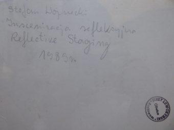 WOJNECKI STEFAN - Inscenizacja refleksyjna [vintage print]