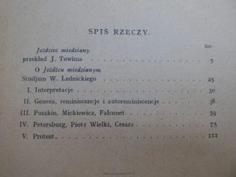 PUSZKIN ALEKSANDER - Jeździec miedziany [egz. z autografem J. Tuwima]