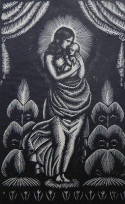 SKOCZYLAS WŁADYSŁAW Madonna [drzeworyt]