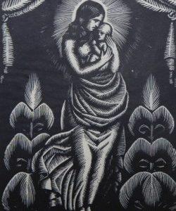 SKOCZYLAS WŁADYSŁAW - Madonna [drzeworyt]