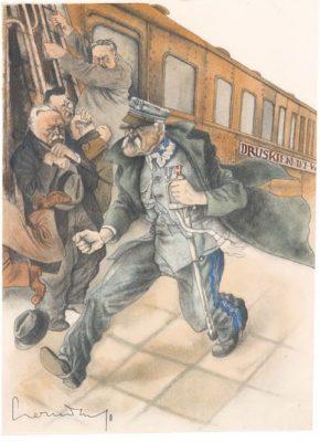 CZERMAŃSKI ZDZISŁAW Marszałek Piłsudski [karykatura]