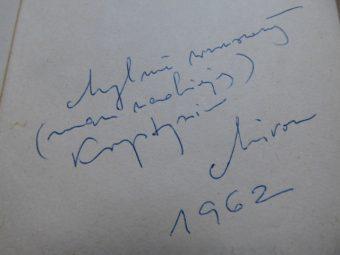 BIAŁOSZEWSKI MIRON - Mylne wzruszenia [autograf !]