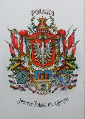 SARYUSZ-WOLSKI KAJETAN Polski herbarzyk. Zbiór orłów i herbów z mapą Rzeczypospolitej Polski przed rozbiorami
