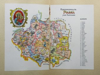SARYUSZ-WOLSKI KAJETAN - Polski herbarzyk. Zbiór orłów i herbów z mapą Rzeczypospolitej Polski przed rozbiorami