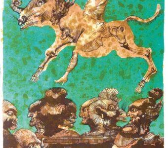 LEBENSTEIN JAN - z cyklu Folwark zwierzęcy [litografia]