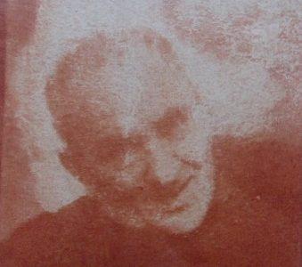 DEDERKO WITOLD - Portret mężczyzny [guma warszawska]