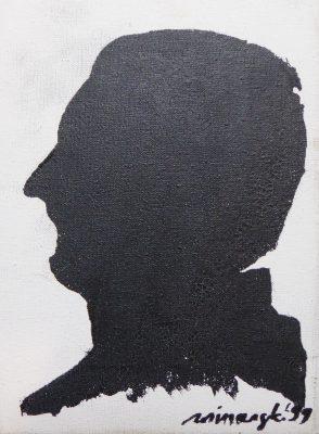 WINIARSKI RYSZARD Autoportret [akryl na płótnie]