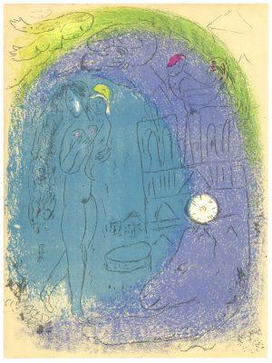CHAGALL MARC Matka z dzieckiem na tle Notre-Dame [litografia]