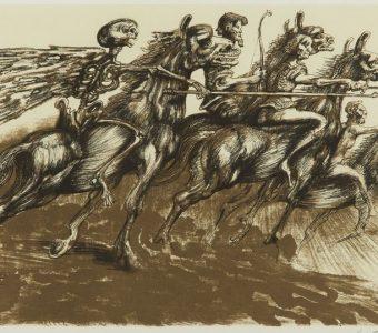 LEBENSTEIN JAN - Jeźdźcy Apokalipsy [litografia]