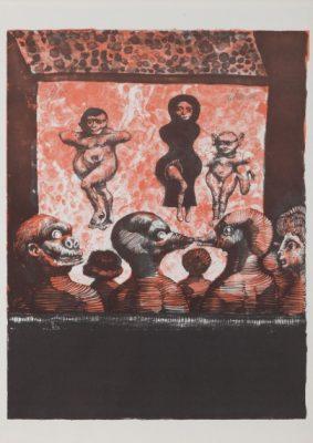 LEBENSTEIN JAN Teatr [litografia]