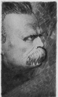 SIEDLECKI FRANCISZEK Fryderyk Nietzsche [akwaforta]